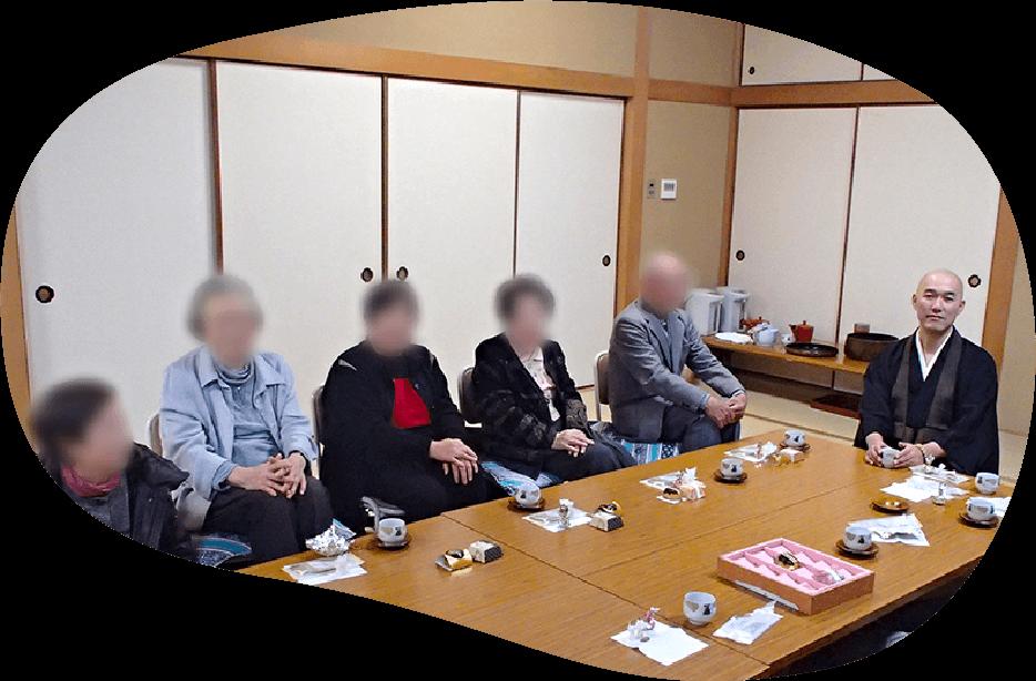 お寺でお念仏と茶話の会